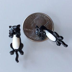 Other - 2/$10 Dangle cat stud earrings